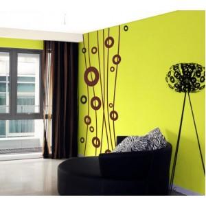 Стикер за стена | Абстрактни  | Кръгове 204, С линии