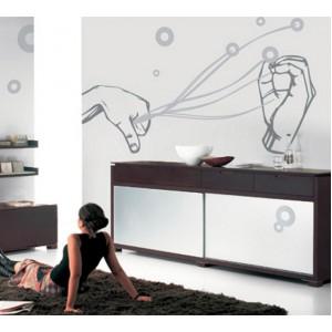 Декорация за стена | Лице и ръце  | Магически ръце