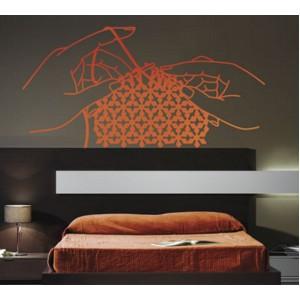 Декорация за стена | Лице и ръце  | Ръце с плетка