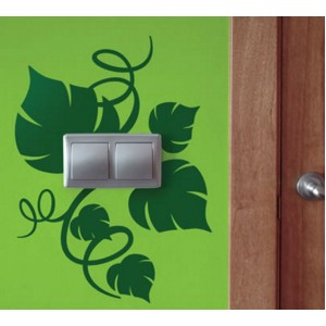 Стикер за стена | Цветя  | Раззеленен контакт, Двоен, 2 бр.