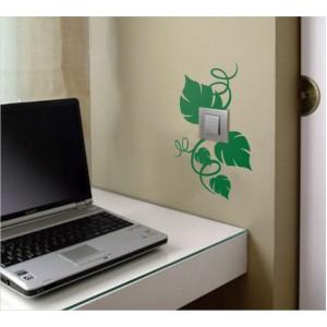 Стикер за стена | Ключове, Контакти  | Раззеленен контакт, Единичен, 3 бр.