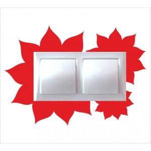 Стикер за стена | Ключове, Контакти  | Модел 40209D, Двоен, 4 броя