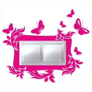 Стикер за стена | Птици, Пеперуди  | Модел 40211D, Двоен