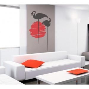 Декорация за стена | Небе  | Фламинго