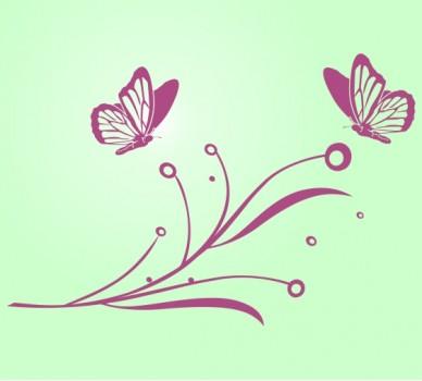 Стикер за стена Пеперуди на клонче