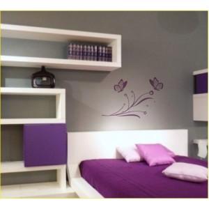 Стикер за стена | Птици, Пеперуди  | Пеперуди на клонче