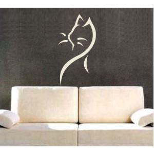 Стикер за стена | Котки  | Котка 02, Щрих