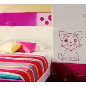 Стикер за стена | Котки  | Котка 10, Усмихната