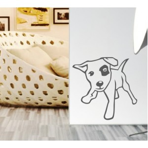 Стикер за стена | Кучета  | Куче 06, Наблюдаващо