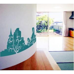 Стикер за стена | Абстрактни  | Зелен град