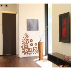Стикер за стена | Орнаменти  | Ъглов орнамент 1026, Голямо цвете