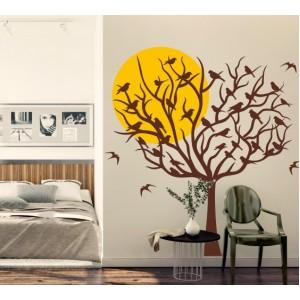 Стикер за стена | Дървета  | Дърво 16, Залез