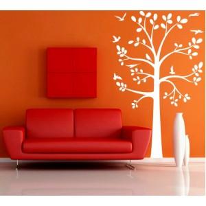 Стикер за стена   Птици, Пеперуди    Дърво 18, С птици