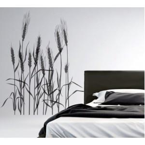 Стикер за стена | Трева, Бамбук  | Житни класове 10801
