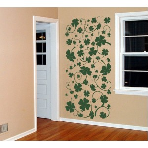 Стикер за стена | Трева, Бамбук  | Четирилистни детелини 10802