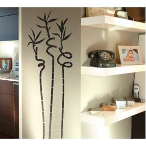 Стикер за стена | Трева, Бамбук  | Три бамбукови стъбла