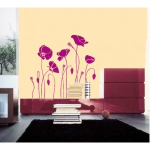 Стикер за стена | Цветя  | Цветя 23, Макове