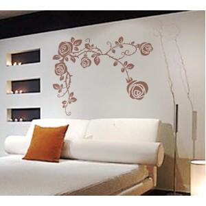 Стикер за стена | Орнаменти  | Цветя 36,  Рози в ъгъла