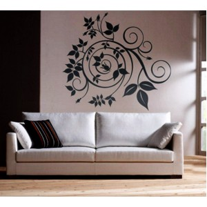 Стикер за стена | Цветя  | Спирала от розови пъпки