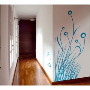 Стикер за стена | Трева, Бамбук  | Трева с мехурчета