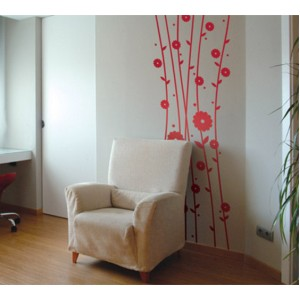 Стикер за стена | Цветя  | Цветя и стъбла