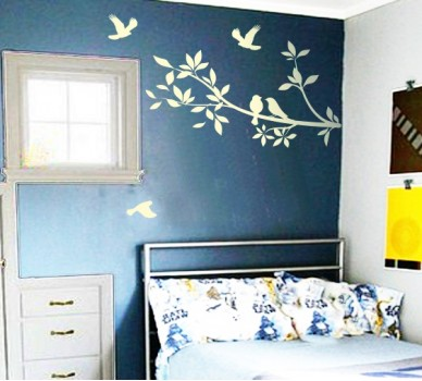 Стикер за стена Клон с птици