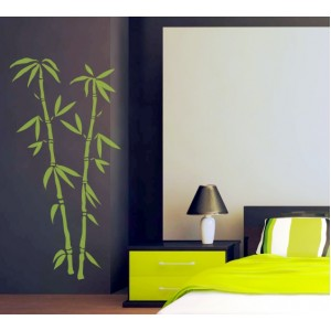 Стикер за стена   Трева, Бамбук    Бамбук 03, Две клонки