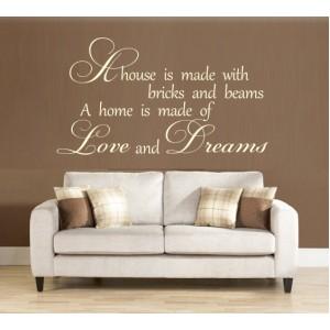 Стикер за стена | Семейство, Любов  | Любов и мечти