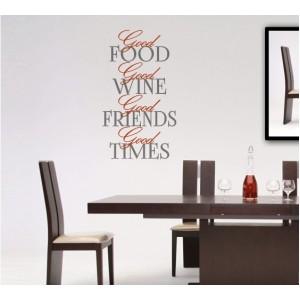 Стикер за стена   Надписи за кухня    Добра храна, добро прекарване