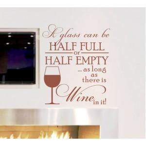 Стикер за стена | Надписи | Стига да има вино