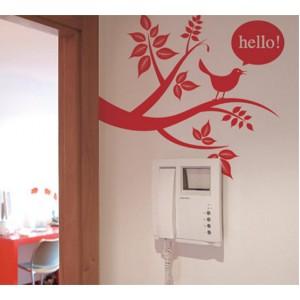 Стикер за стена | Птици, Пеперуди  | Птичето ви посреща