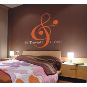 Стикер за стена   Музика    Спалня за музиканти, Персонализиран