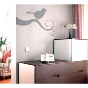 Стикер за стена | Клони  | Птиче на клонче