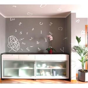 Стикер за стена | Изображения | Вентилаторът разпиля буквите