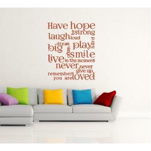 Имай надежда, Романтичен дизайн
