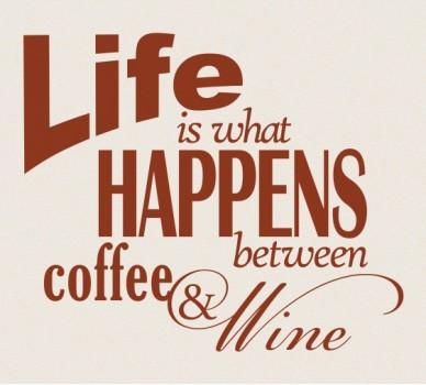 Между кафето и виното