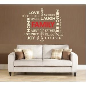 Стикер за стена | Стикери за стена | Семейството