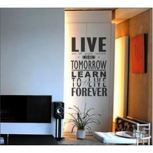 Стикер за стена | За мотивация | Живей като че...