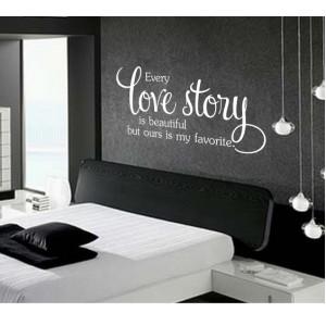 Стикер за стена | Семейство, Любов  | Всяка любовна история е