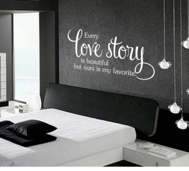 Стикер за стена Всяка любовна история е