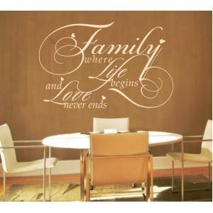 Декорация за стена   Семейство, Любов    Семейство и любов