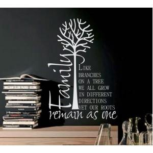 Стикер за стена | Дървета  | Семейството и корените