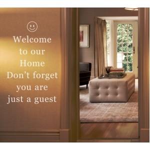 Стикер за стена | Забавни & Други  | Добре дошли в нашия дом