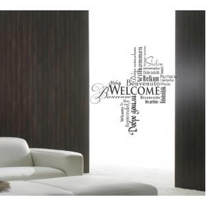 Стикер за стена | Надписи | Добре дошли 58203, Многоезичен