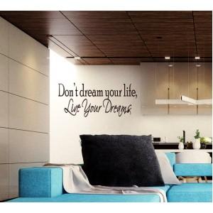 Стикер за стена | За мотивация | Изживей мечтите...
