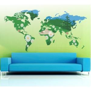 Стикер за стена | Изображения | Зелена планета
