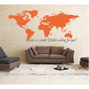 Стикер за стена | Мотивиращи  | Цял един свят те очаква