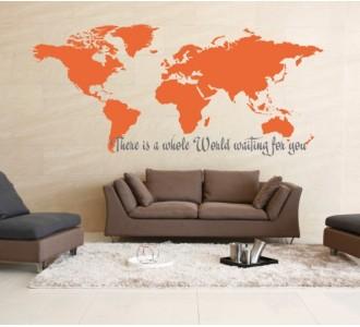 Стикер за стена Цял един свят те очаква