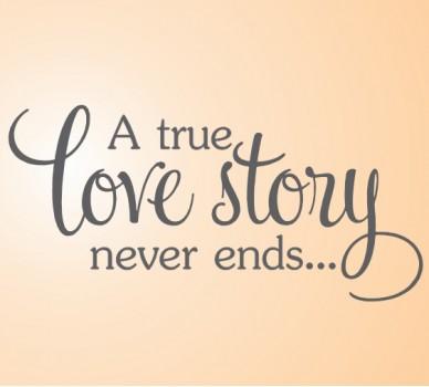 Стикер за стена Истинската любовна история