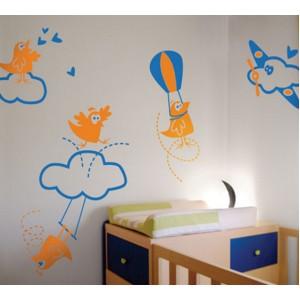 Стикер за стена | Самолети  | Птиците са полудели